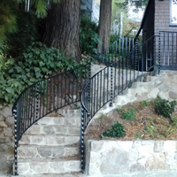 Wrought Iron Pleasanton, Staircase
